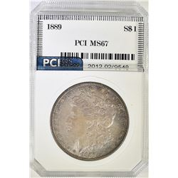 1889 MORGAN DOLLAR, PCI SUPERB GEM BU+