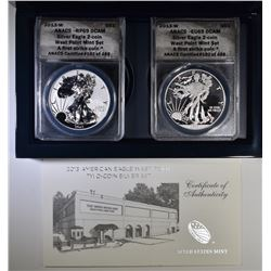 2013-WEST POINT 2-COIN AMERICAN SILVER EAGLE SET