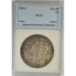 1896-O MORGAN DOLLAR  NNC CH BU