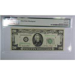 1950 $20 FEDERAL RESERVE NOTE NEW YORK