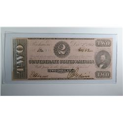 1862 $2 CONFEDERATE STATES OF AMERICA