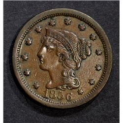1856 LARGE CENT, XF+