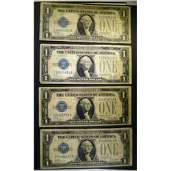 """4-1928 SILVER CERTIFICATES  """"FUNNY BACK NOTES"""" NIC"""