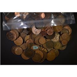 16-POUNDS MIXED FOREIGN COINS ( MOSTLY COPPER )