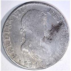 1819 MEXICO 8 REALES damage