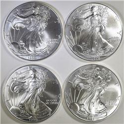 4-BU 1999 AMERICAN SILVER EAGLES