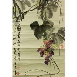 Tan Baoquan 1943-2014 Chinese Watercolor Scroll