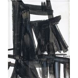 American Abstract Oil on Canvas Signed KLINE