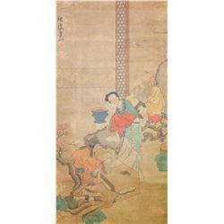 Chen Hongshou 1598–1652 Chinese Watercolor Scroll