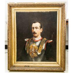 European Oil on Canvas Portrait Dated 1890