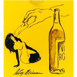 US Pop Ink Femlin Provenance Signed LeRoy Neiman
