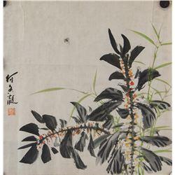 He Xiangning 1878-1972 Chinese Watercolor Paper
