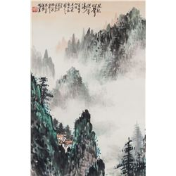 Guan Shanyue 1912-2000 Chinese Watercolor Roll