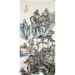 Liang Shiyu b.1945 Chinese Watercolor Paper Roll