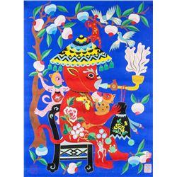 Yan Yuzhen Chinese b.1915 Watercolor Folk Art