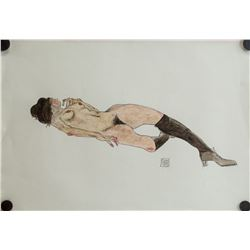 Austria Expressionist Mixed Signed Egon Schiele