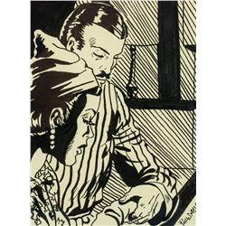 American Pop Art Ink on Paper Signed Phil Davis