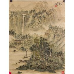 Chinese Watercolor on Paper Signed by Artist