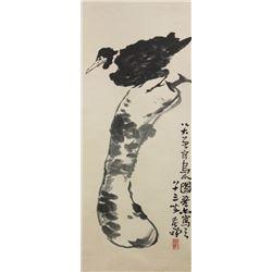 Li Kuchan 1899-1983 Chinese Ink on Paper Scroll
