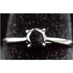 0.68 ct Black Diamond White Gold Ring CRV $900