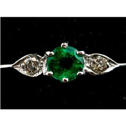 0.24 ct Columbian Emerald Ring RV $800
