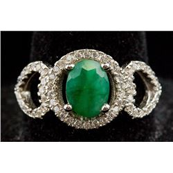 Sterling Silver Emerald  Ring RV$ 250