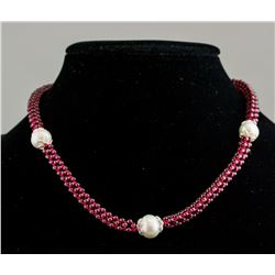 Freshwater Pearl and Garnet Necklace CRV $900