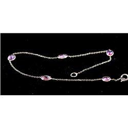 1.5 ct Pink Sapphire White Gold Bracelet CRV $800