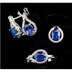Sapphire Earrings and Pendant Set RV $600