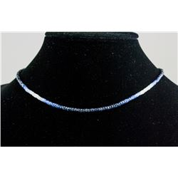 4.8 ct Blue Sapphire Bead Necklace CRV $950