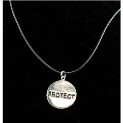 Sterling Silver Protect Pendant Necklace RV $200