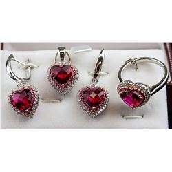 Pendant Earring and Ring Set RV $400