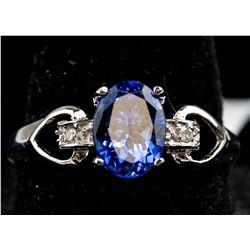 1.32 ct Tanzanite and Diamonds Ring CRV $2500