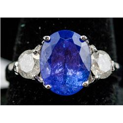 3 ct Tanzanite and Diamond Ring CRV $7800