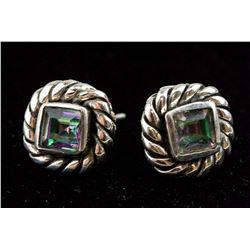 Sterling Silver Mystic Topaz Earrings RV $200