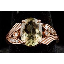 2.8 ct Zultanite 14K Rose Gold Ring CRV $6000