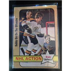 1972-73 O-Pee-Chee Bobby Orr #58 NHL Action