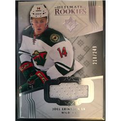 2016-17 Ultimate Collection Rookie Joel Eriksson Card #137