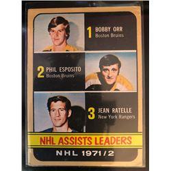 1972-73 Topps Bobby Orr,Jean Ratelle,Phil Esposito #62