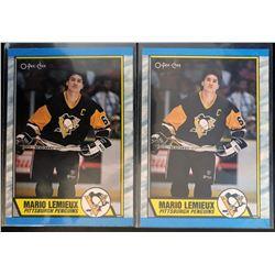 1989-90 O-Pee-Chee X 2 Mario Lemieux Card #1