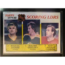 1980-81 Topps Wayne Gretzky,Marcel Dionne, Guy Lafleur