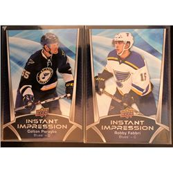 2016-17 Upper Deck Colton Parayko and Robby Fabbri