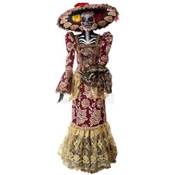 Goosebumps 2: Haunted Halloween - Day of the Dead Lady's Costume (Burgundy) - 1245