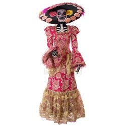 Goosebumps 2: Haunted Halloween - Day of the Dead Lady's Costume (Pink) - 1246