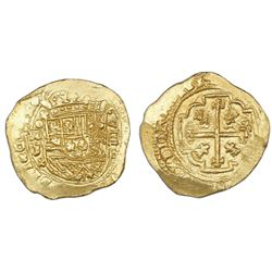 Mexico City, Mexico, cob 8 escudos, 1713J, ex-1715 Fleet.