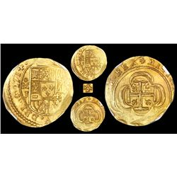 Mexico City, Mexico, cob 2 escudos, 1714J, NGC MS 65, ex-1715 Fleet (designated on label).