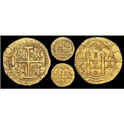 Lima, Peru, cob 8 escudos, 1705H, NGC MS 62, ex-1715 Fleet and ex-Pullin (both designated on label),