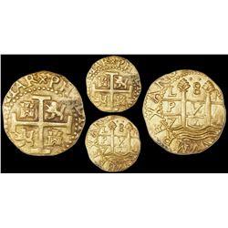 Lima, Peru, cob 8 escudos, 1711M, PCGS AU55, ex-1715 Fleet and ex-Auerbach (both stated on label).