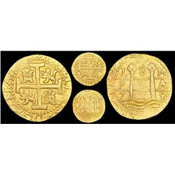 Lima, Peru, cob 8 escudos, 1714/3M, rare, NGC MS 62, ex-1715 Fleet (designated on label).