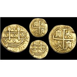 Lima, Peru, cob 4 escudos, 1699R, rare.